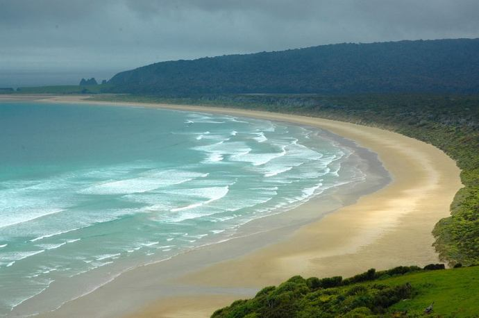 A beach in the wild and beautiful Catlins region