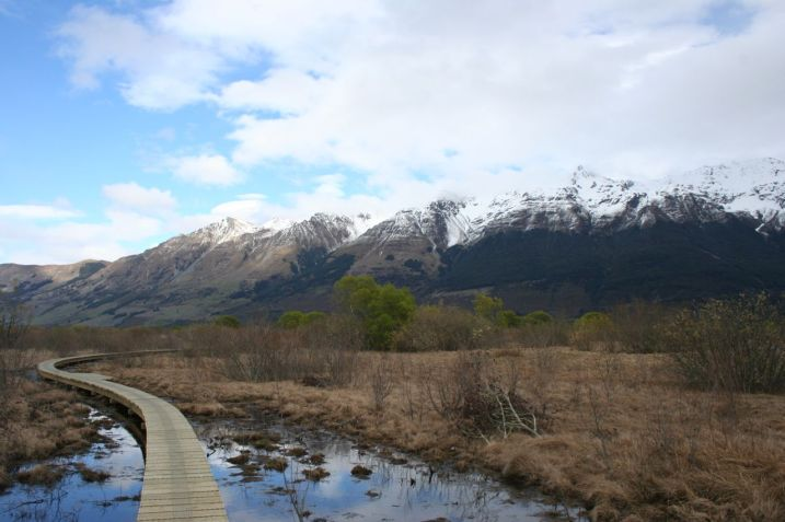 Glenorchy walkway boardwalk view