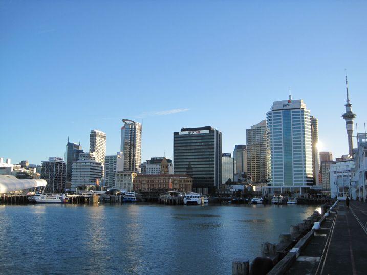 Auckland harbour skyline