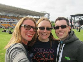The three of us at Coldplay back in Nov 2012