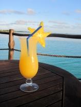 Drinks overlooking the lagoon