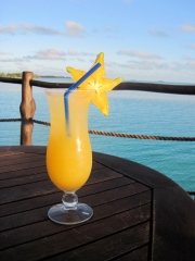 Drinks overlooking the lagoon