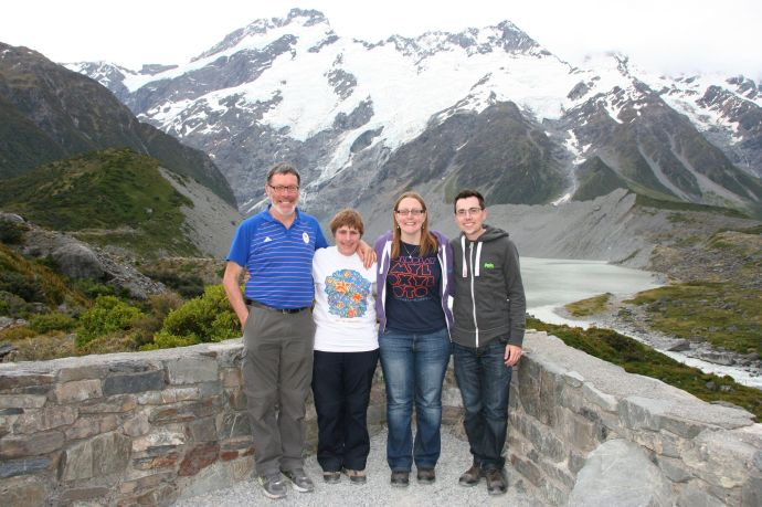 My parents, me and John at Mount Cook