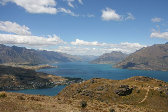 From the top of Queenstown Hill