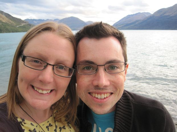 Me, hubby and Lake Wakatipu