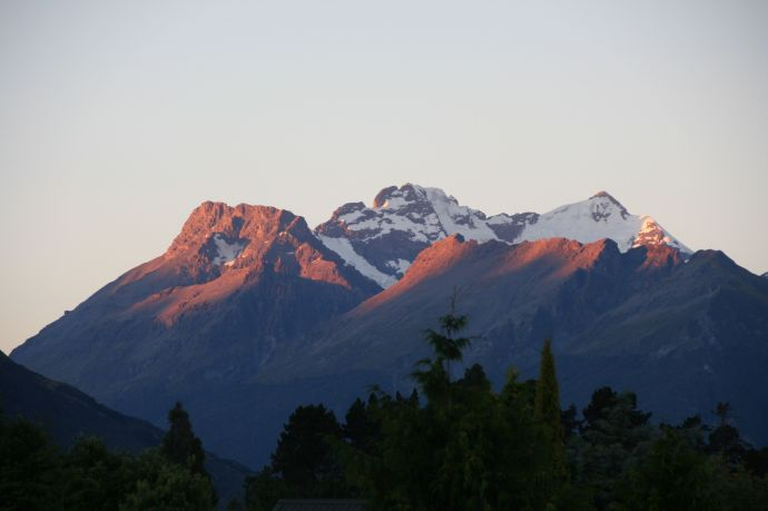 View of Glenorchy mountains from our house