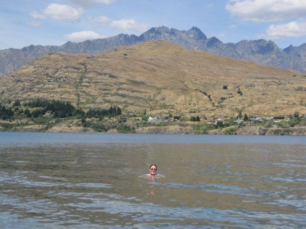 Swimming in Lake Wakatipu