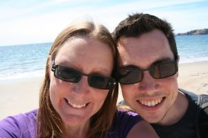 Us on the beach