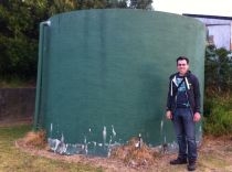 John and our water tank!
