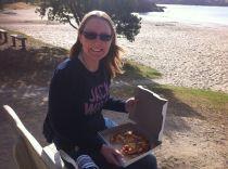 Pizza on the beach