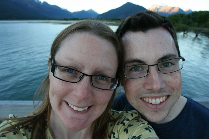 Us in Glenorchy - one of our favourite places