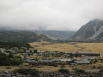 View of Mount Cook village