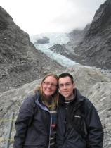 Us at Franz Josef glacier