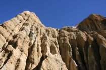 View looking up at Clay Cliffs