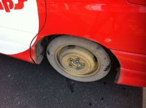 The spare tyre!