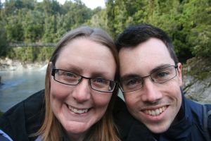 On Hokitika Gorge walk