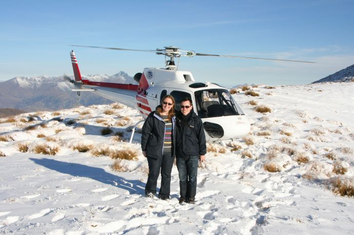 Helicopter trip over Queenstown