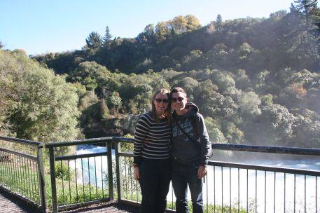 Us at Huka Falls