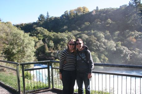 Us at Huka Falls
