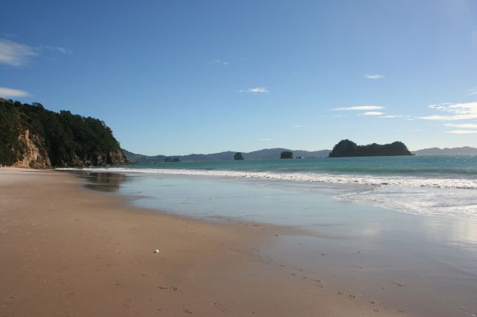 Beautiful Hahei beach on the Coromandel peninsula