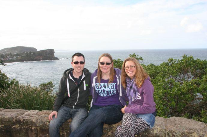 Me, John and Kat at North Bilgola lookout