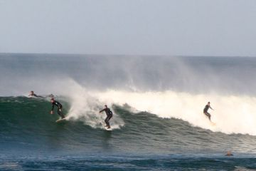 Surfing at Bells Beach