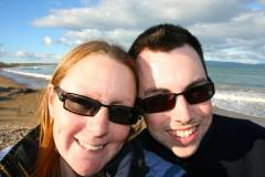 Us at Kelvedon beach