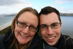 Us on Bruny Island