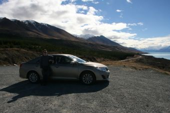 On the road to Mount Cook