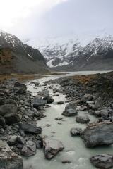 View from Hooker Valley bridge