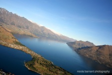 Aerial shot of Lake Wakatipu