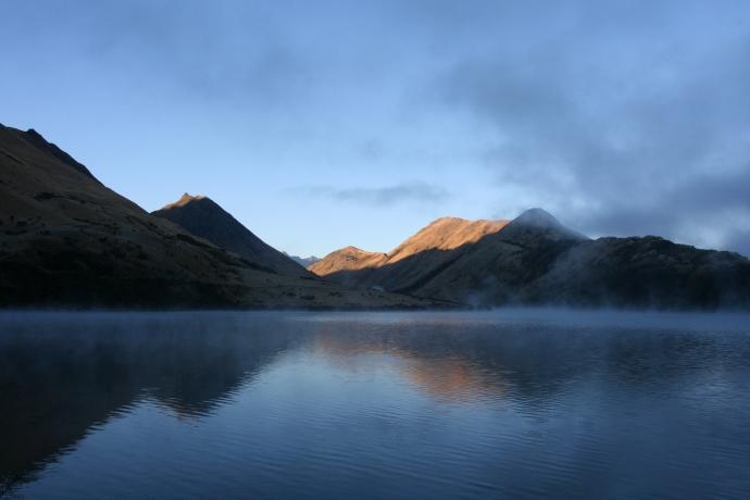 Moke Lake reflection