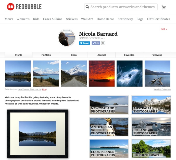 RedBubble Page