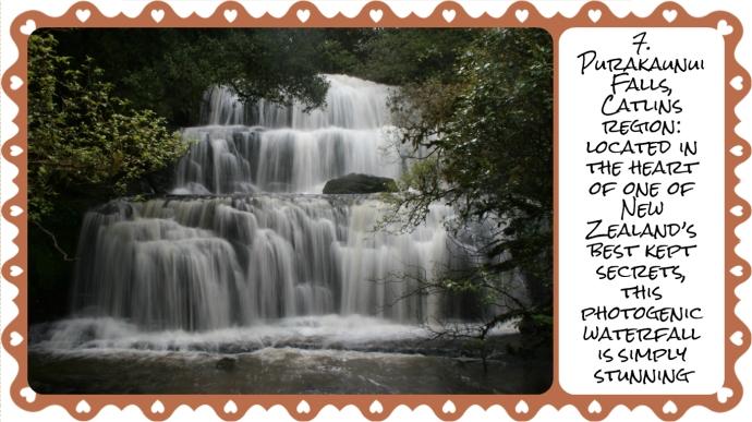 7. Purakaunui falls
